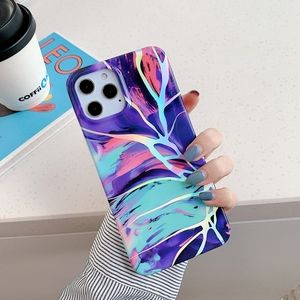 iPhone Case Electroplated Marble Glow Luxury